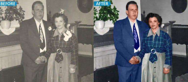 old photo color restoration