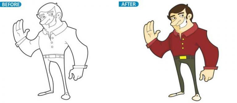 vector Character Drawing For Animation